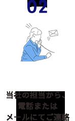 2.当社の担当から電話またはメールにてご連絡